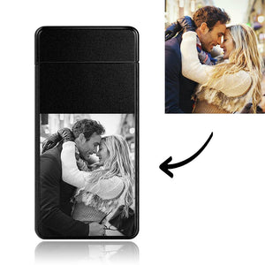 Men's Personality Custom Electric Blue Couple Gift Photo Lighter, Engraved Lighter