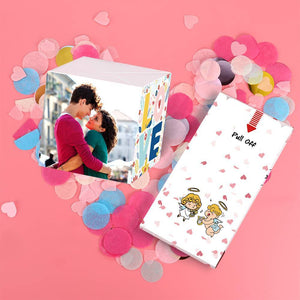 Custom DIY Amazing Surprise Box Photo Surprise Explosion Bounce Box with Heart