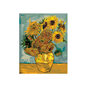 "Van-Gogh Sunflowers - DIY Paint by Numbers Kit - 16""x20"""