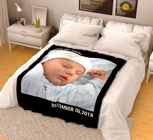 Custom Kids Fleece Photo Blanket