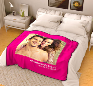 Personalized Love Fleece Photo Blanket