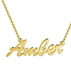 Custom Name Necklace 14K Gold Plated