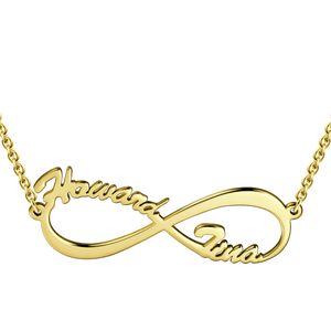 Infinity Name Necklace Silver