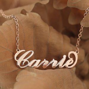 Carrie Style Name Necklace Silver