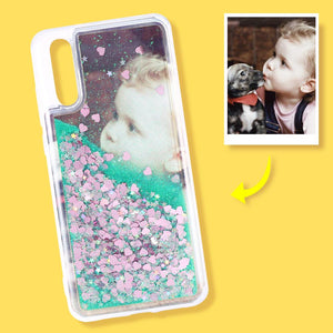 Huawei Custom Quicksand Photo Phone Case Huawei P20