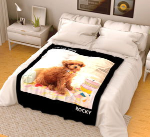 Custom Pets Fleece Photo Blanket