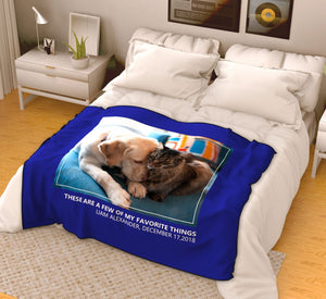 Personalized Pets Fleece Photo Blanket