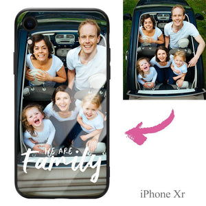 iPhoneXr Custom We Are Family Photo Protective Phone Case
