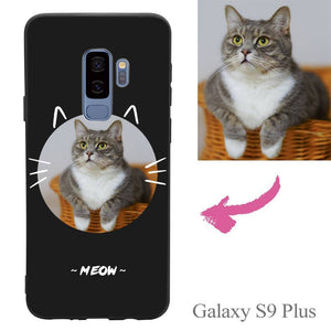 Galaxy S9 Plus Custom Cat Photo Protective Phone Case