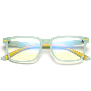 Angle - Kids Blue Light Blocking Computer Reading Gaming Glasses-Light Green