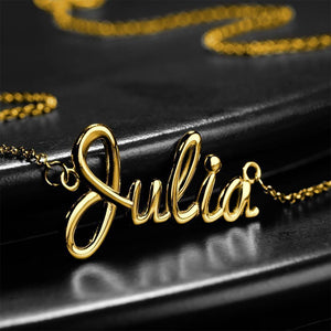 Personalized Classic Name Necklace 14K Gold