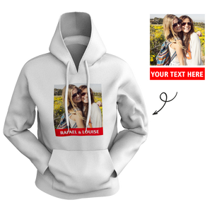 Custom Women's Hoodie Chest Photo with Text