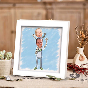 Personalized Father's Photo Frame Home Decoration Stereoscopic
