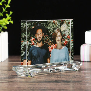 Personalized Crystal Photo Frame Square-shaped Keepsake Gift