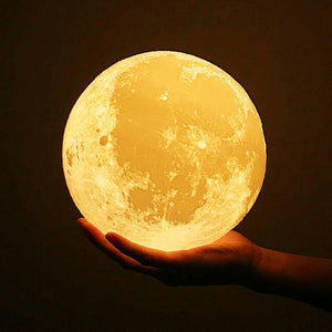 Touch Double Colors - Engraved Moon Lamp