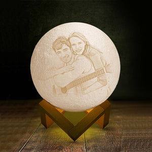 Pat 3 Colors - Creative Gift Engraved Photo Moon Lamp