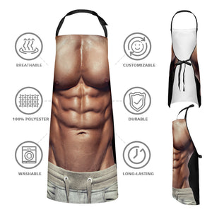Muscle and Bikini Couple Apron Pack of 2
