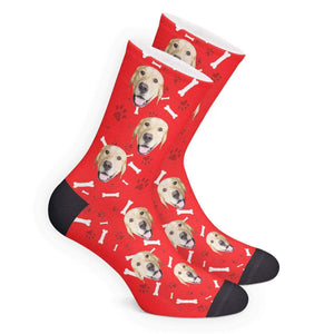 Photo Socks Custom Dog Face Socks With Text