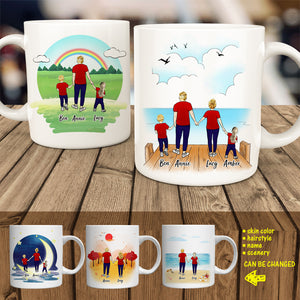 Couple and Family Clip Art Personalized Lover Coffee Mug