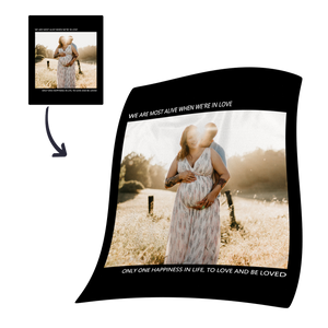 Family Love Custom Fleece Photo Blanket
