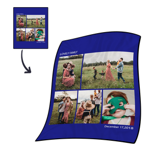 Gifts for Mom Custom Photo Fleece Blanket