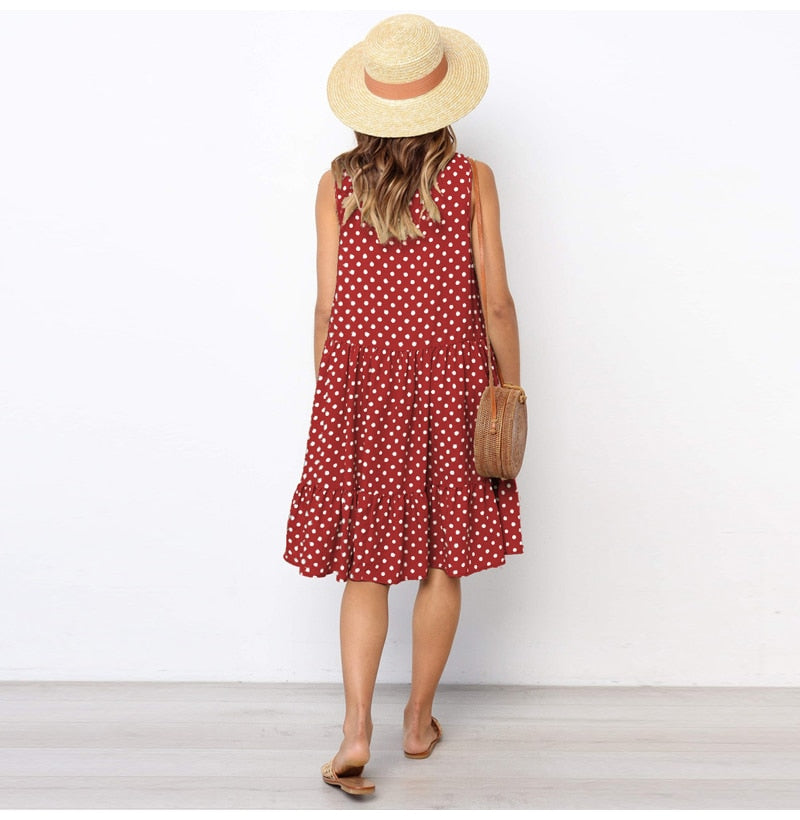 Virginia- Spotted Sun Dress