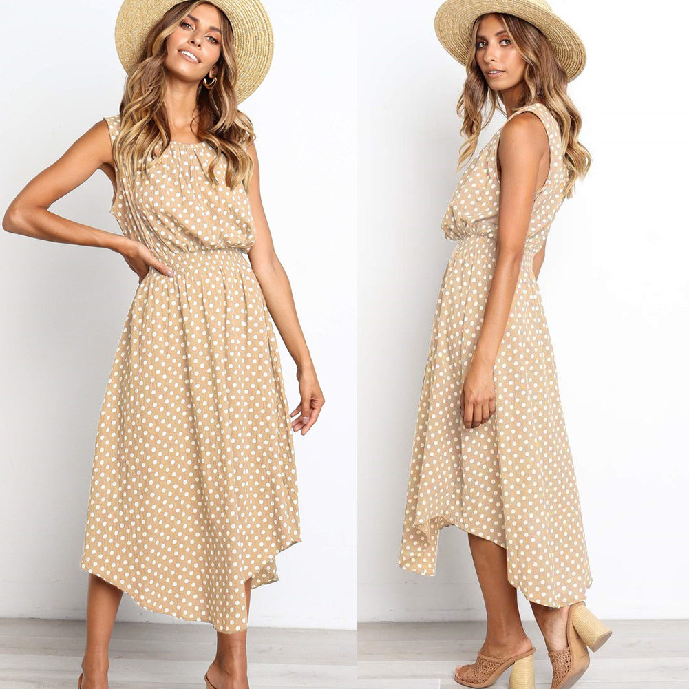 Beverly - Spotted Maxi Dress