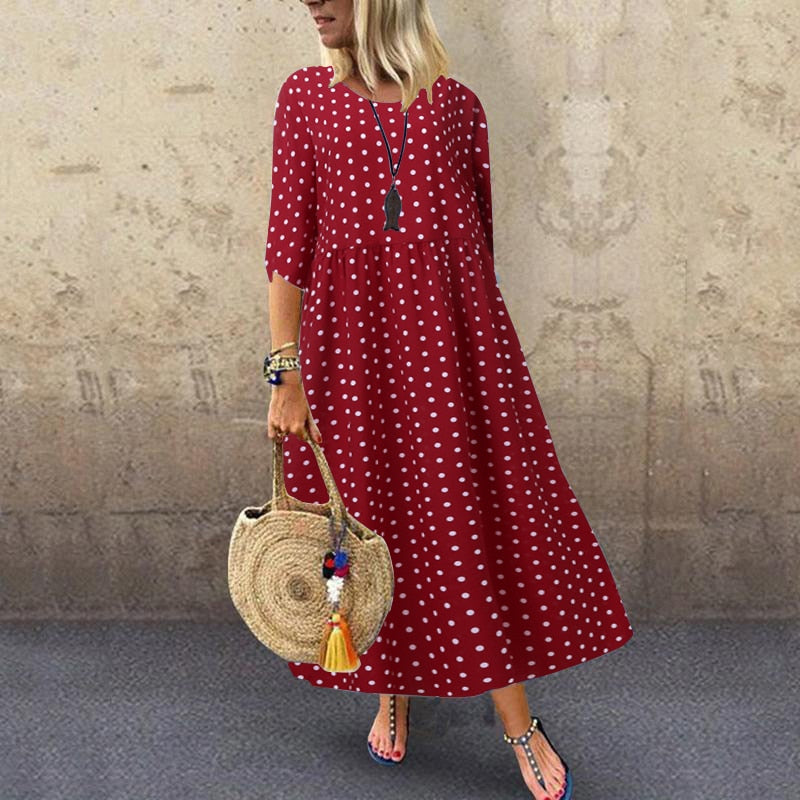 Alice - Spotted Maxi Dress