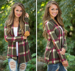 Joni - Plaid Cardigan