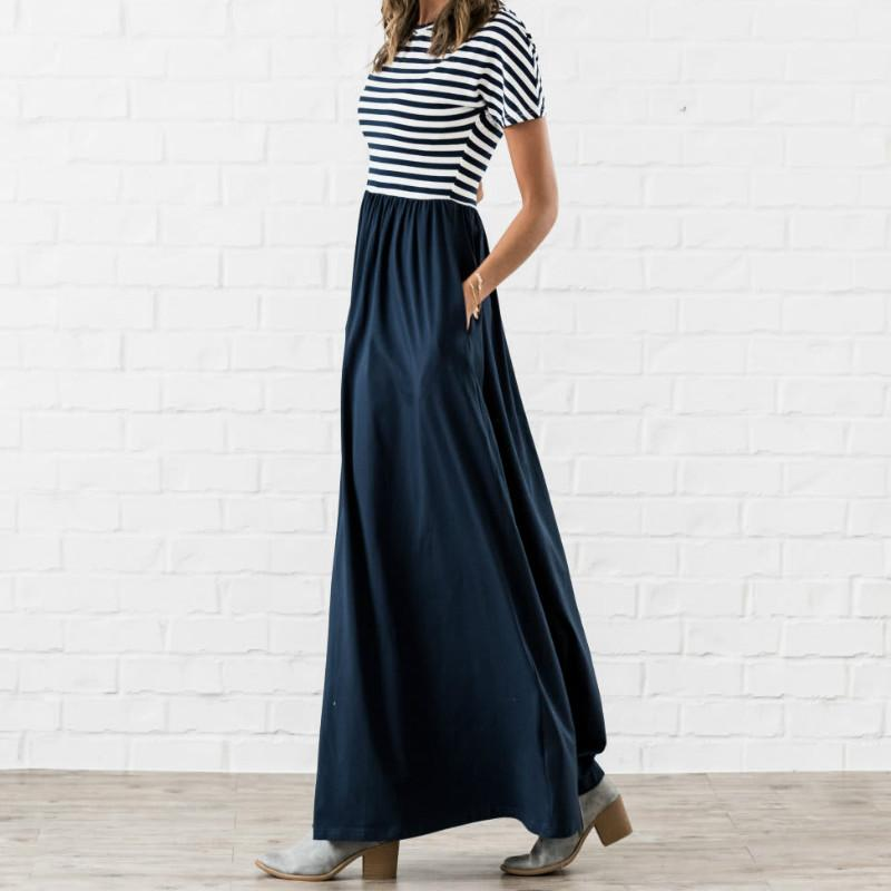Savannah - Striped Maxi Dress