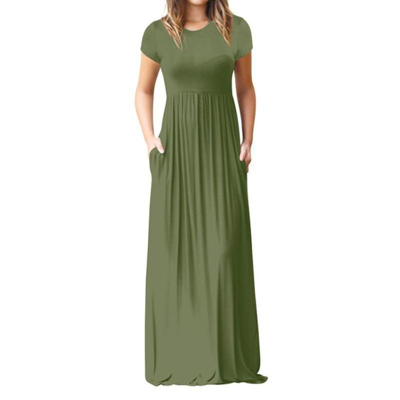 Veronica - Solid Maxi Dress