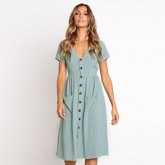 Tallulah - Solid Sun Dress