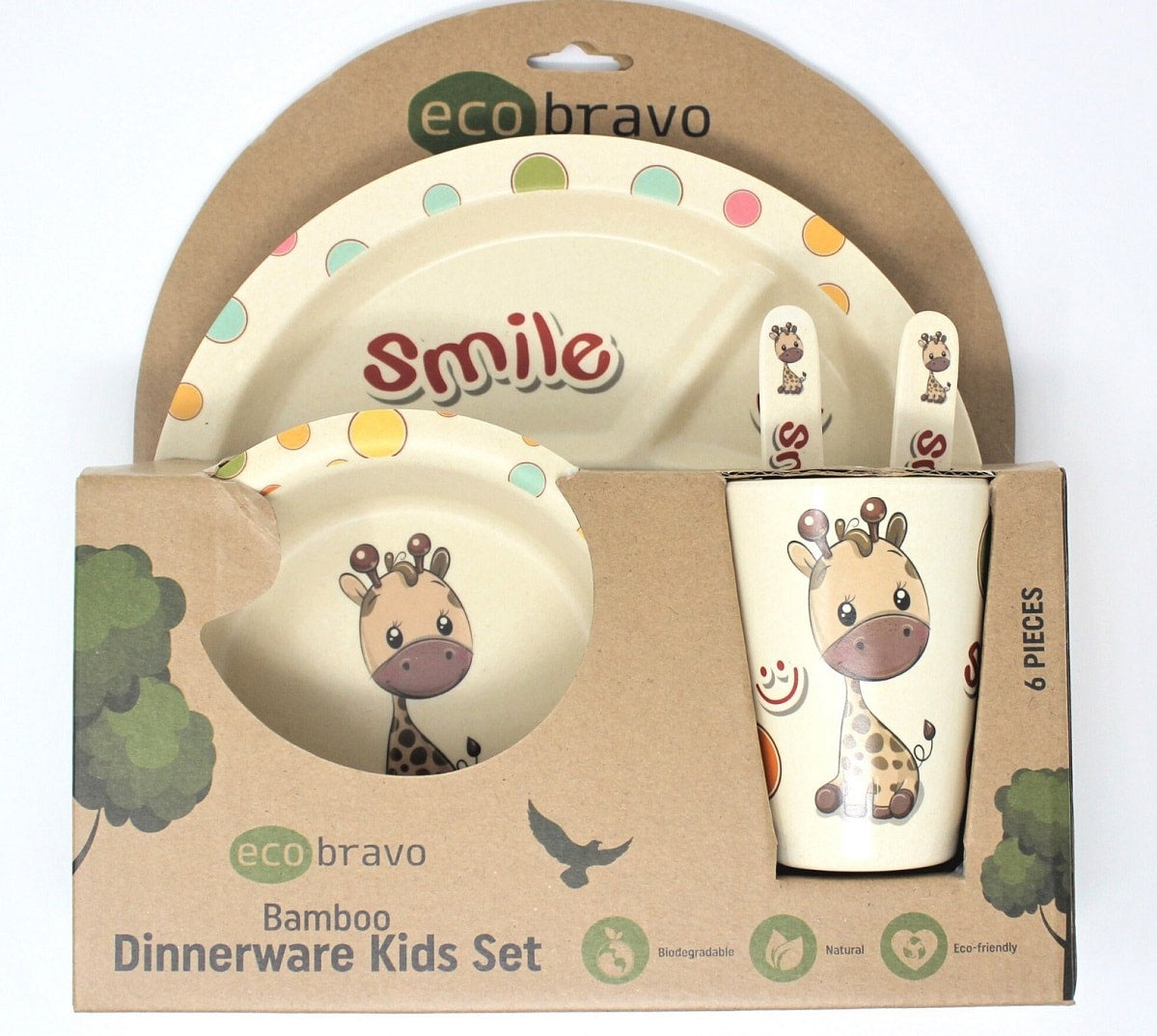 Bamboo Dinnerware Kids Set