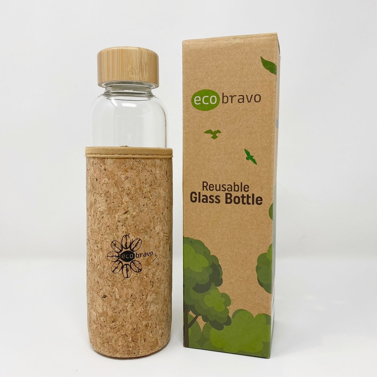 eco-friendly gifts - glass water bottle