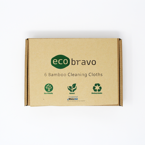 6 Pack 100% Organic Bamboo Dish & Cleaning Cloths Eco-Friendly