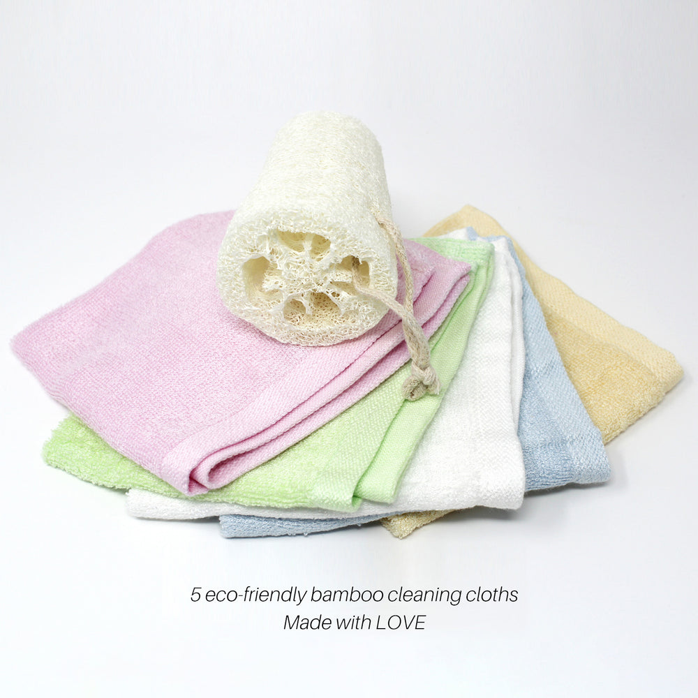 Bamboo Cleaning Cloths 5 Pack