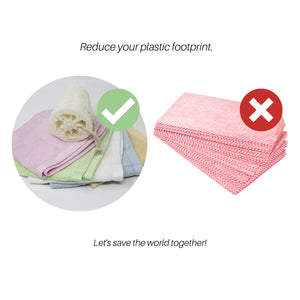 5 Pack Bamboo Cleaning Cloths with Reusable Bag