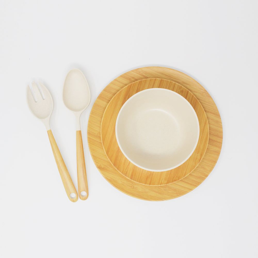 Eco-Friendly Bamboo Dinner Set (5 Pcs)