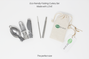 Eco Bravo 6 Pieces Portable Folding Travel Cutlery Set 3