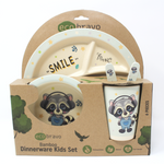 6 Pcs Eco-Friendly Kids Bamboo Dinner Set - Musical Fox