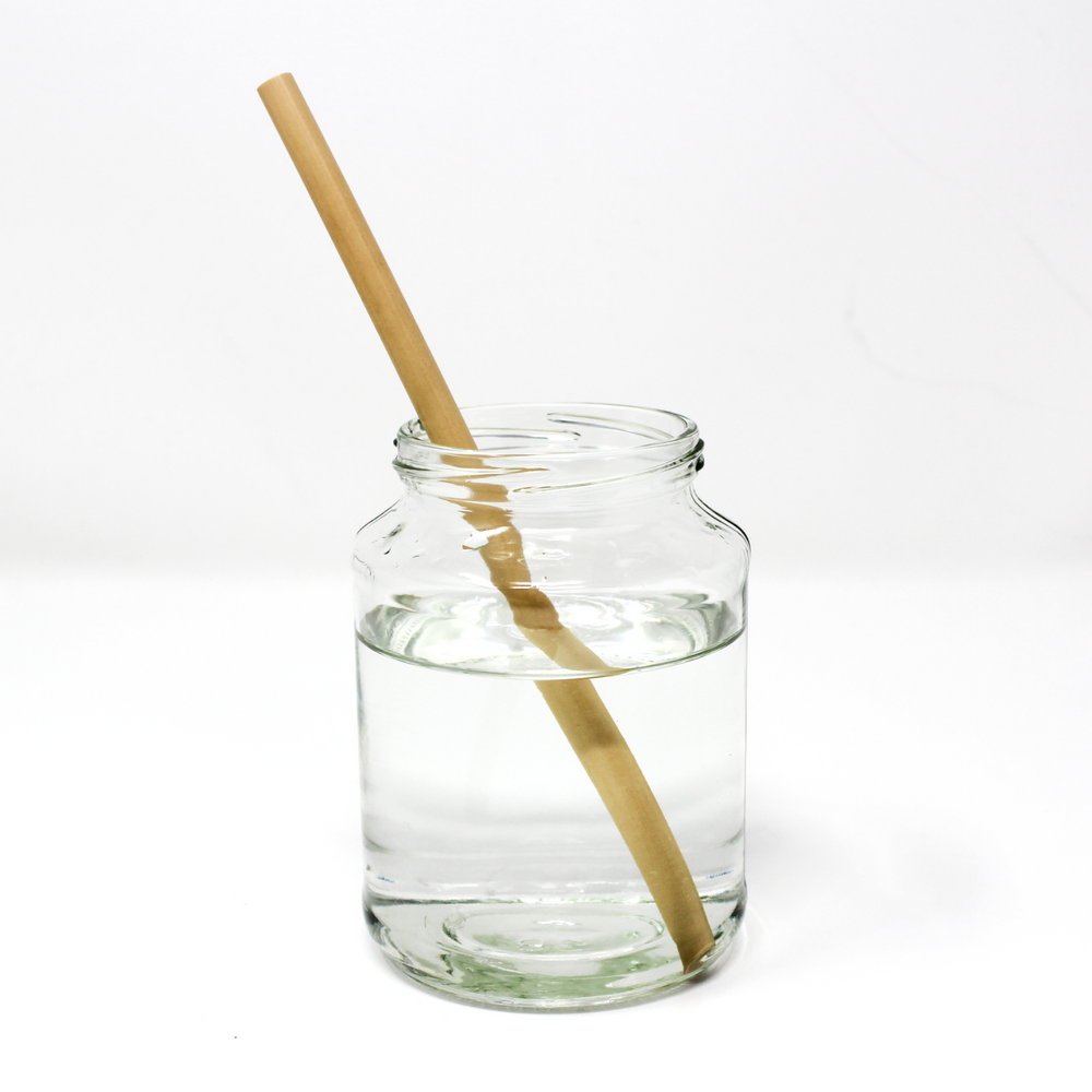 Pack of 6 Reusable Bamboo Straws with Cleaning Brush