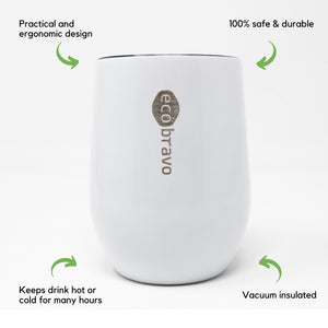 Reusable Coffee Cup White