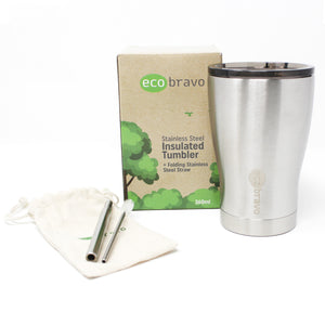 Reusable Coffee Cup with Telescopic Straw