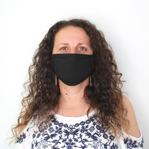 3 Pack Reusable Cotton Face Coverings in Black (Made in UK)