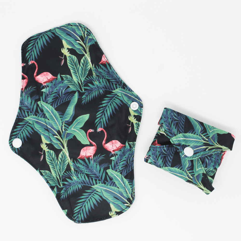 Reusable Sanitary Pads Pack of 6 - Flamingos