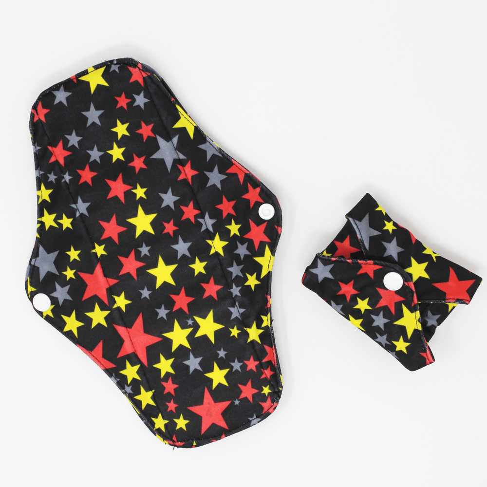 Reusable Sanitary Pads Pack of 6 - Stars