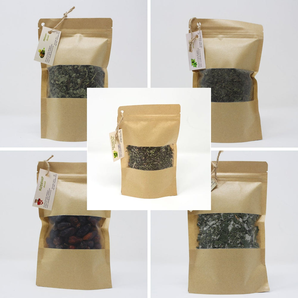 Set of 5 Organic Loose Leaf Tea