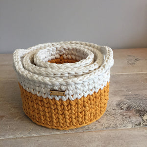 Crochet Baskets - Set of 3