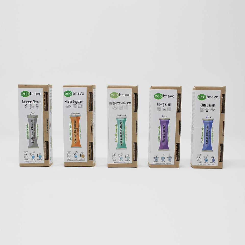 Water Soluble Plastic Free Cleaning Sachets Set