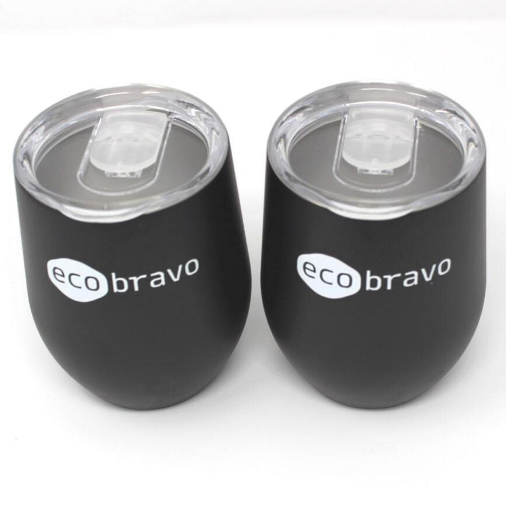 Reusable Coffee Cup Black Double 3
